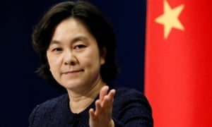 Chinese foreign ministry spokeswoman Hua Chunying at a press conference last month.