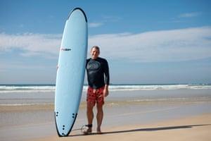 Gavin McOwan, surfing in Sri Lanka