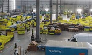 .The vast sorting hub at Hermes' Hemel Hempstead site.