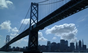 The San Francisco-Oakland Bay bridge is pictured.San Francisco and Oakland rank among the top US cities for the earning gap between the rich and poor people.