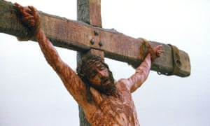 Actor Jim Caviezel portrays Jesus on the cross in a scene from the film The Passion of The Christ