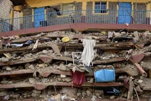 Nairobi, Kenya The ruins of seven-storey building
