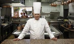 Paul Bocuse at his restaurant L'Auberge du Pont de Collonges