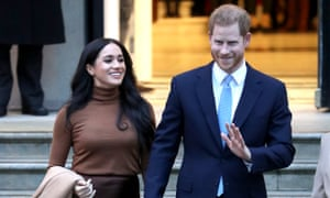 Prince Harry and Meghan, Duchess of Sussex depart Canada House in London last week.