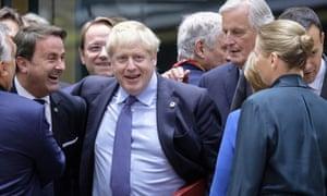 Boris Johnson in Brussels, 17 October 2019.