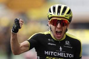 Simon Yates wins his first Tour de France stage for Mitchelton-Scott.