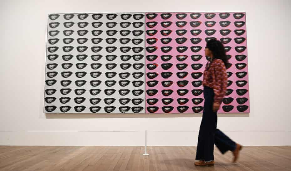 Marilyn Monroe's Lips, 1962 by Andy Warhol at Tate Modern, London, March 2020.