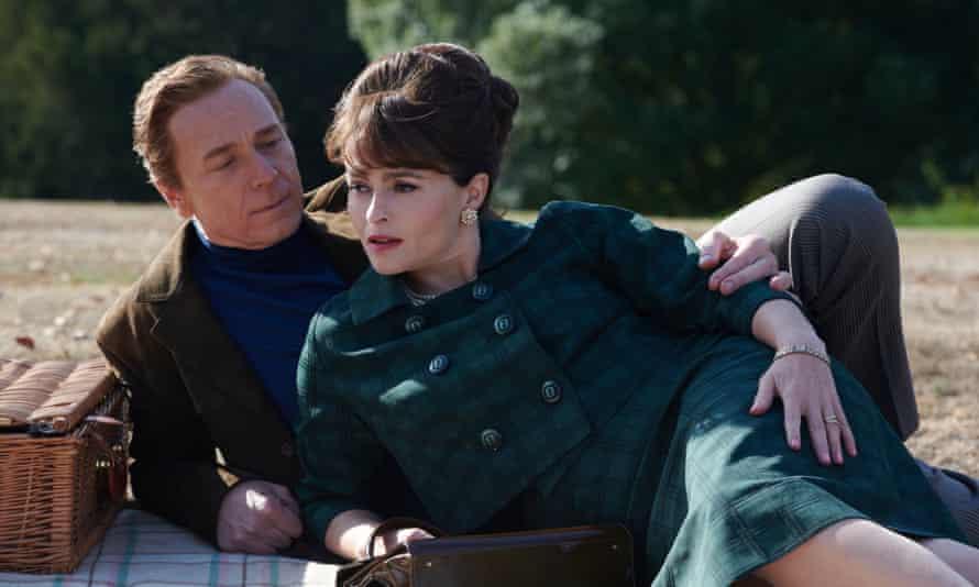 Helena Bonham Carter as Princess Margaret and Ben Daniels as Lord Snowdon.