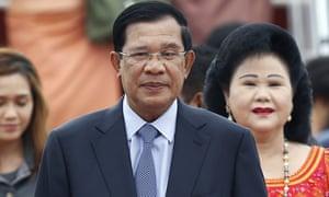 Cambodian prime minister Hun Sen and his wife Bun Rany