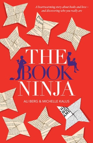 Book cover for The Book Ninja by Ali Berg and Michelle Kalus