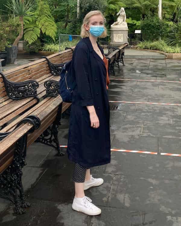 Edinburgh University student Leah Wolf in Glasgow Botanic Gardens last week.