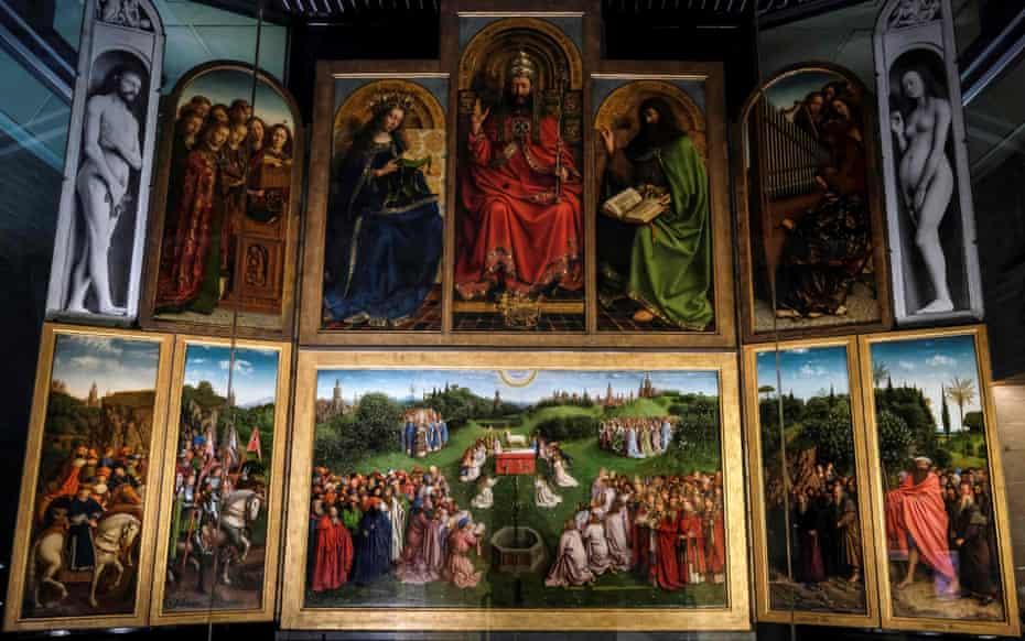 Mesmerising … the restored altarpiece.