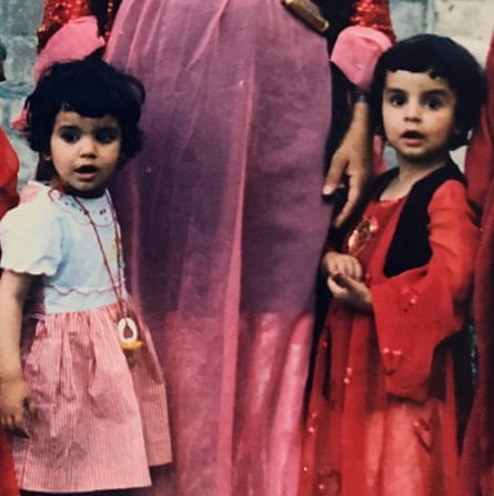Payzee, left and Banaz as children.