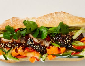 Roll with it: pork belly bánh mì.