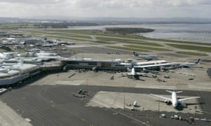 Auckland International Airport. All aircraft in New Zealand were grounded after a fault in the air traffic control system.