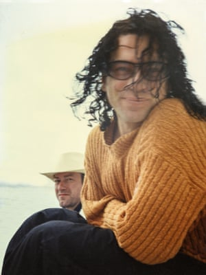 The author's snap of Hutchence with her partner Andy Gill.