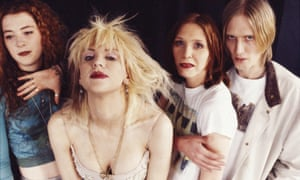 Courtney Love and friends: Hole at the height of their fame.