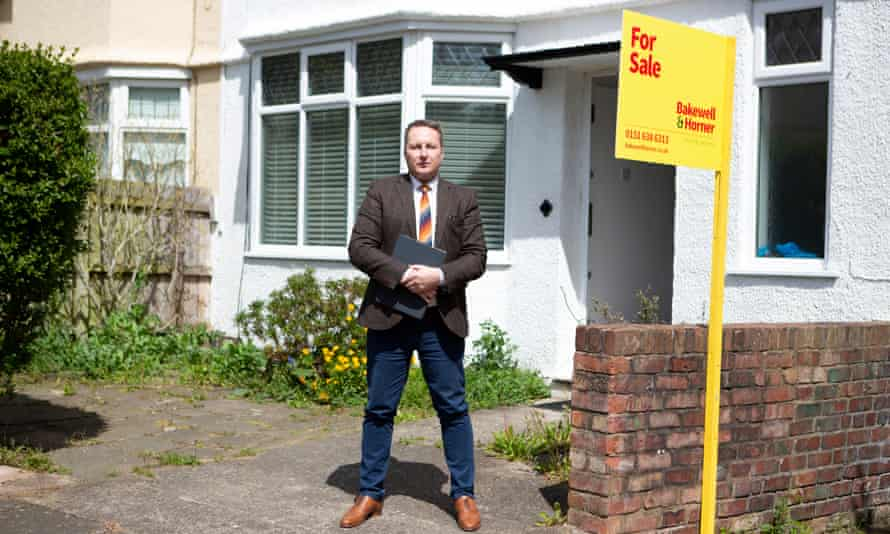 Estate agent Russ Smith outside on of Wallasey's sought-after homes.