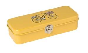 Bike pencil tin