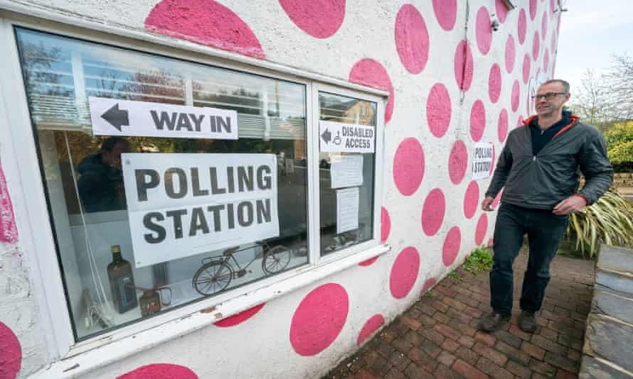 A polling station in the Bank View cafe in Sheffield