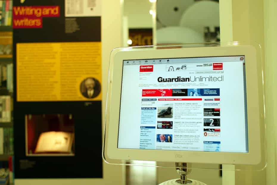 iMac computer displaying the Guardian Unlimited website on 19 November 2002.