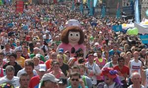 Wacky racers ... the London Marathon.