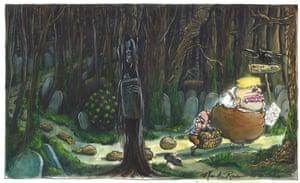Martin Rowson cartoon 23.2.21: Johnson and Hancock seek way out of dark Covid woods
