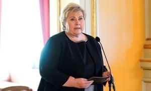 Norway's prime minister Erna Solberg.