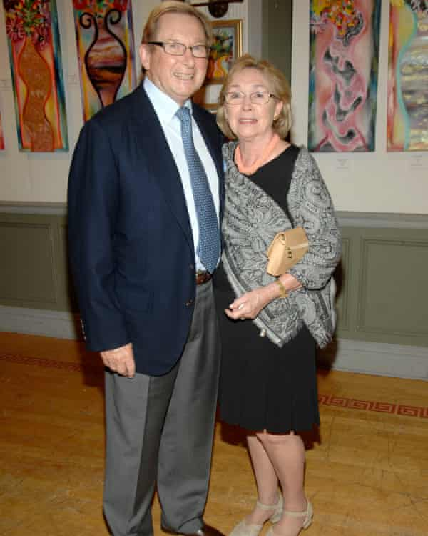 Ronald and Sheila Cresswell attending a fundraising event at the National Arts Club, New York, 2010. They set up a family foundation, and supported many arts and charitable causes.