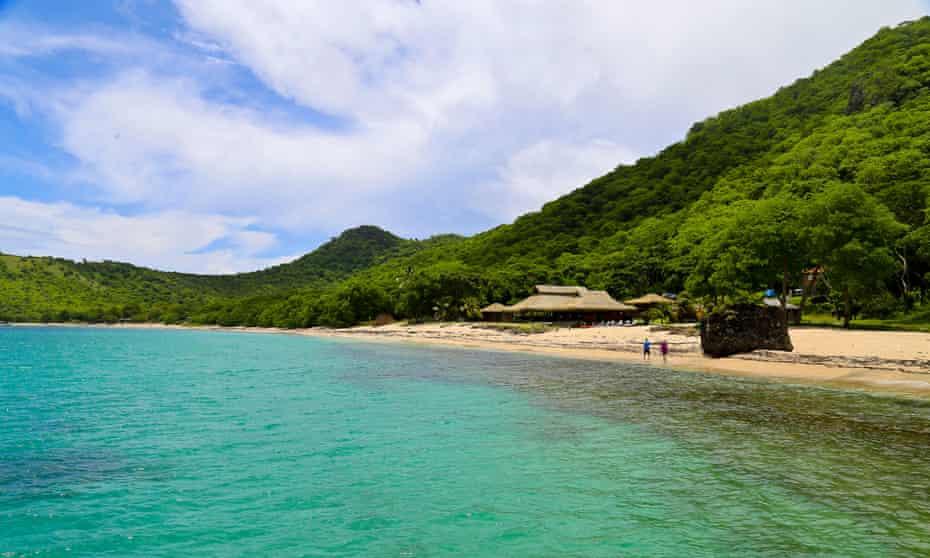 At the beach on Union Island, Grenadines, Caribbean.