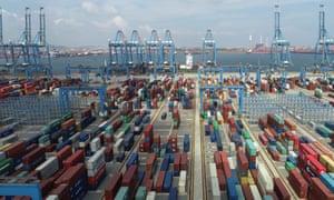 Qingdao Qianwan container terminal in Shandong