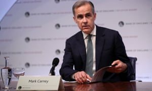 Governor of the Bank of England Carney speaking today