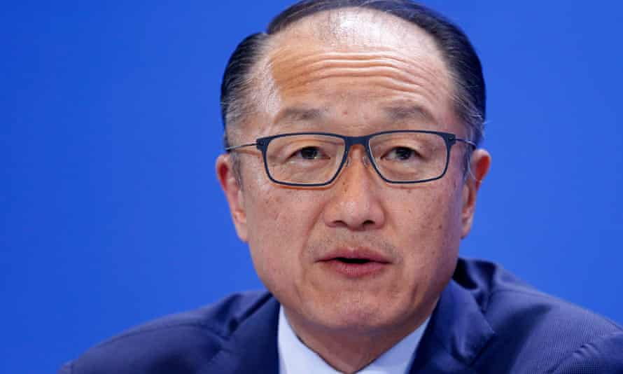 World Bank president Jim Yong Kim at a news conference in Berlin.