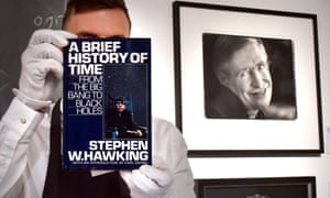 Stephen Hawking's A Brief History of Time, 1988, first American edition, which was signed with a thumbprint.