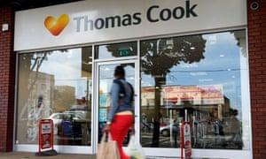A Thomas Cook travel shop