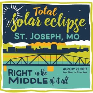 Poster for St Joseph Eclipse, Missouri.
