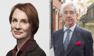 Speaking up: Anne McElvoy and Sir Alan Moses.
