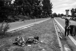 Greece, May 2016 Khalid sleeps by the road