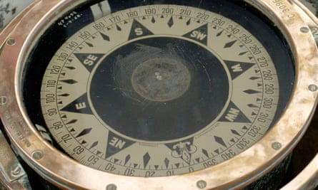 A ship's compass on some gimbals.