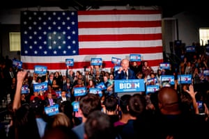Joe Biden speaks during a rally at Tougaloo College in Tougaloo, Mississippi.