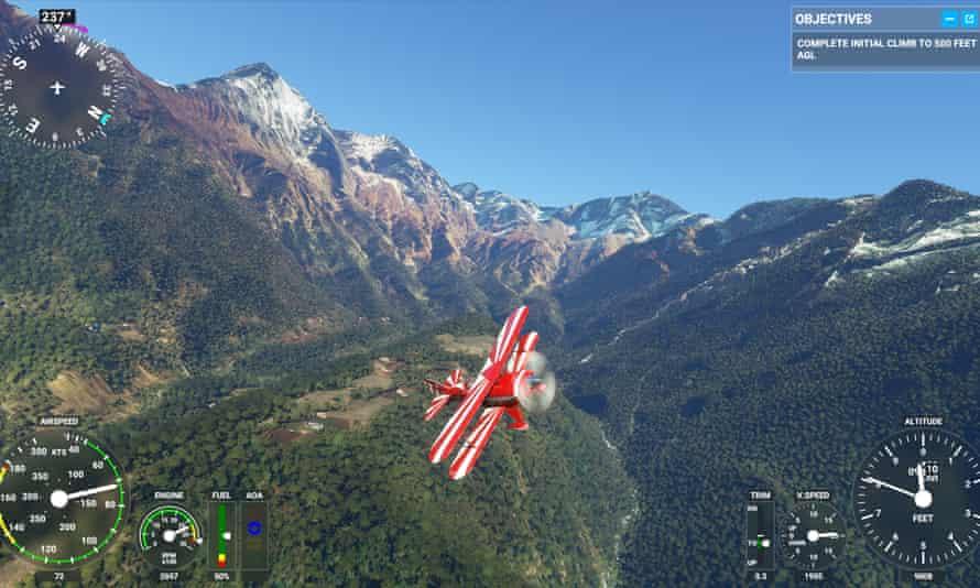 A quick jaunt around the Himalayas ... Flight Simulator.