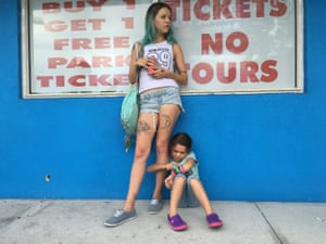 An Instagram feed from fame … The Florida Project star Bria Vinaite, left, with Brooklynn Prince.