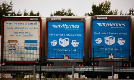 Deliveries are big business: courier company Hermes' turnover almost doubled in three years.