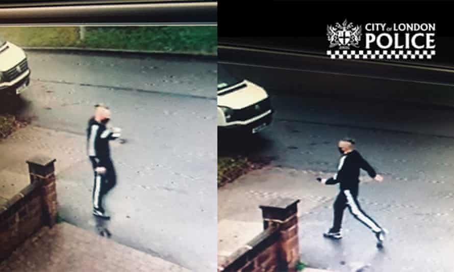 CCTV images of the man, taken during a second visit he made to the woman's home, when he asked for another £100.