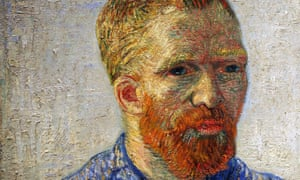 A detail from Self-portrait as an Artist by Vincent Van Gogh.