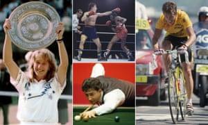 Steffi Graf, Barry McGuigan, Greg Lemond and Joe Johnson were all big in the 1980s.