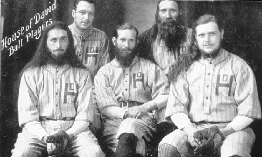 Members of the barnstorming House of David team pose for a portrait around 1910