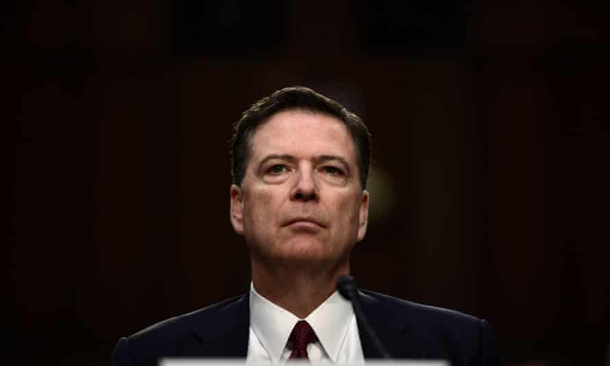 James Comey testifies before a Senate committee in Washington DC on 8 June 2017.