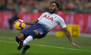 Danny Rose playing for Tottenham against Southampton