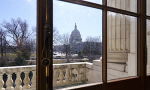 The Capitol is seen from the Russell Senate Office building on 5 March.